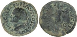 Ancient Coins - Vespasian Ae As - AEQVITAS AVGVST S-C