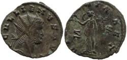 Ancient Coins - Gallienus AE Antoninianus, Siscia Mint - VICTORIA AET