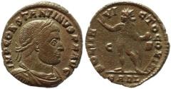Ancient Coins - Roman coin of Constantine I - SOLI INVICTO COMITI - Arlelate