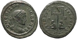 Ancient Coins - Crispus follis - VIRTVS EXERCIT
