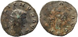 Ancient Coins - Gallienus silvered antoninianus - AEQVITAS AVG