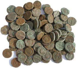 Ancient Coins - 100 Roman Egyptian Potin Tetradrachms