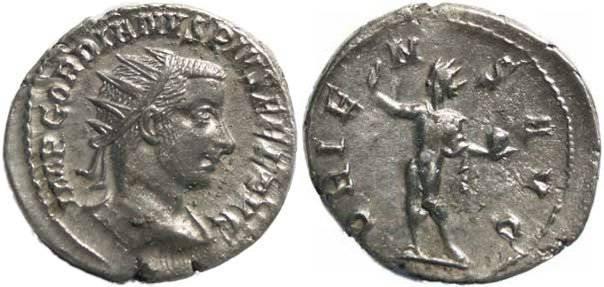Ancient Coins - Gordian III 238-244AD Antoninianus - ORIENS AVG