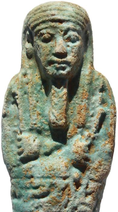 Ancient Coins - Ancient Egyptian Faience Ushabti - Late Period 27th Dynasty - Perfect condition