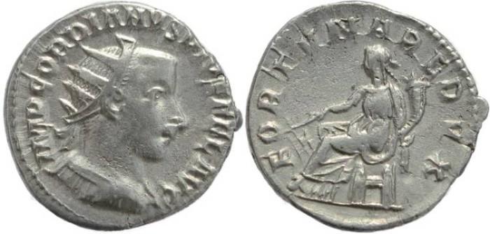 Ancient Coins - Gordian III AR silver antoninianus - FORTVNA REDVX