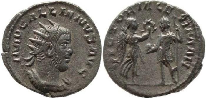 Ancient Coins - Gallienus silver antoninianus - VICTORIA GERMAN