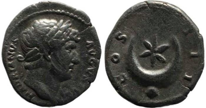 Ancient Coins - Hadrian denarius - COS III