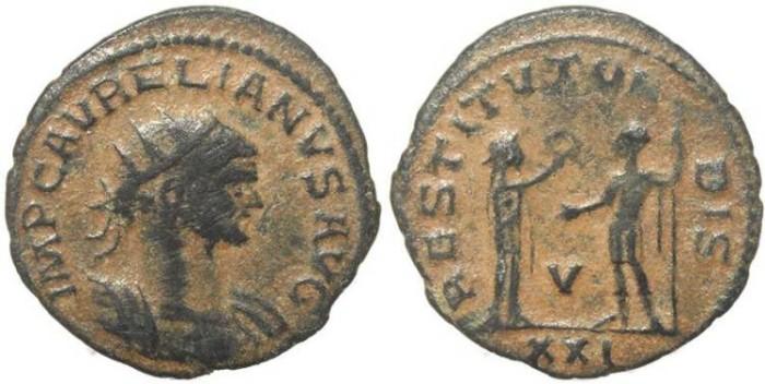 Ancient Coins - Roman coin of Aurelian - Antoninianus - RESTITVT ORBIS