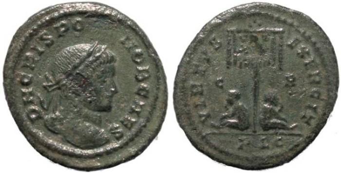 Ancient Coins - Crispus follis - VIRTVS EXERCIT