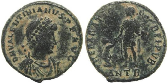Ancient Coins -  Ancient Roman coin of Valentinian II - REPARATIO REIPVB - Antioch