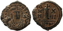 Ancient Coins - Byzantine coin of Maurice Tiberius AE Decanummium - Antioch - Year 12