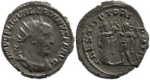 Ancient Coins - Valerian I silver antoninianus - RESTITVT ORIENTIS