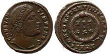 Ancient Coins - Roman coin of Constantine I - Eyes towards God