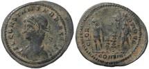 Ancient Coins - Constans - GLORIA EXERCITVS - Constantinople - 21mm flan - double struck