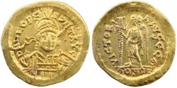 Ancient Coins - Leo I  (457-474 AD ) Gold solidus - Constantinople mint