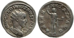 Ancient Coins - Gordian III AR silver antoninianus - AETERNITATI AVG