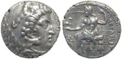 Ancient Coins - Macedonian coin of Alexander III AR silver tetradrachm - Uncertain Eastern mint