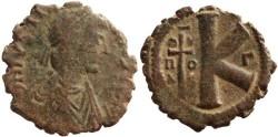 Ancient Coins - Justinian I Ae half follis - Theoupolis