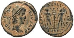 Ancient Coins - Roman coin of Constantius II - GLORIA EXERCITVS - Antioch