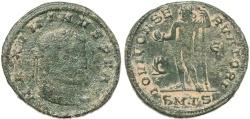 Ancient Coins - Roman coin of Maximinus II -  IOVI CONSERVATORI - Thessalonica
