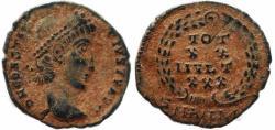 Ancient Coins - Roman coin of Constantius II - VOT XX MVLT XXX - Antioch
