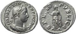 Ancient Coins - Severus Alexander AR silver denarius - SPES PVBLICA
