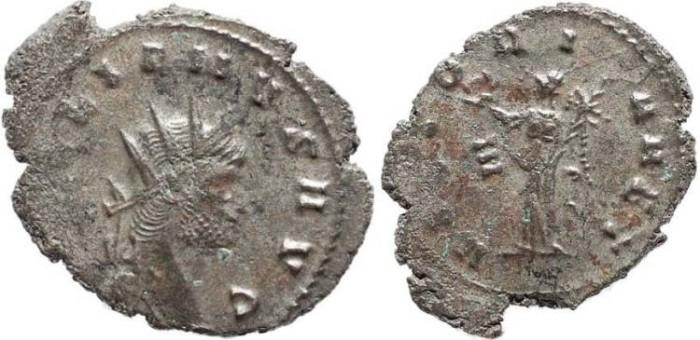 Ancient Coins - Silvered Gallienus Antoninianus - VICTORIA AET