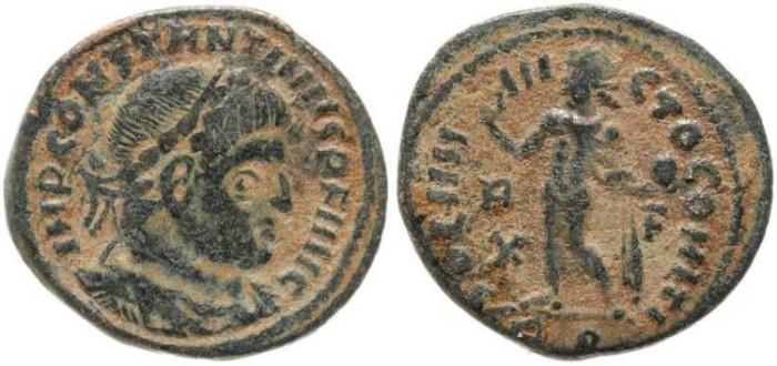 Ancient Coins - Constantine I - SOLI INVICTO COMITI - Rome Mint