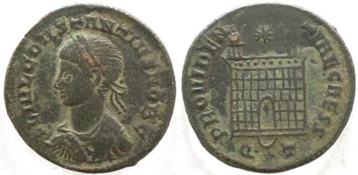 Ancient Coins - Constantius II as Caesar - Campgate - Ticinum Mint