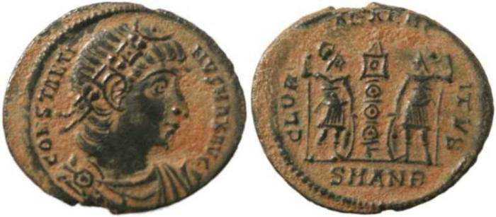 Ancient Coins - Constantine I-  GLORIA EXERCITVS - Antioch Mint