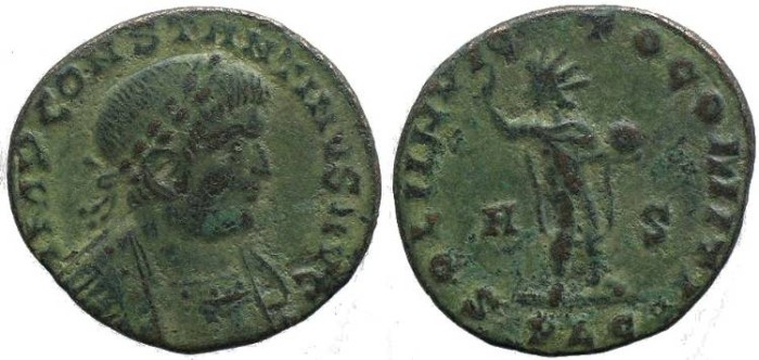 "Ancient Coins - Constantine I ""The Great"" 307-337AD - SOLI INVICTO COMITI - Lugdunum"