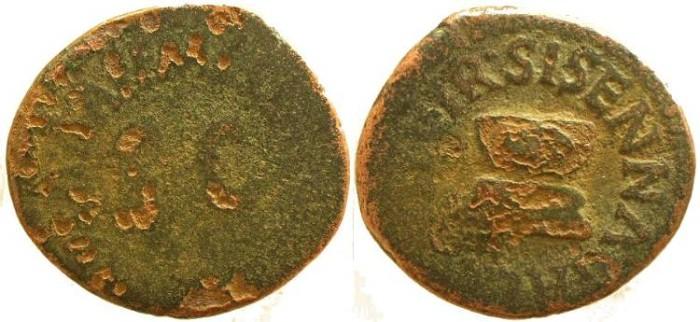 Ancient Coins - Augustus 27 BC-14 AD (Struck 5 BC) AE Quadrans
