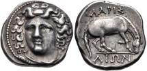 Ancient Coins - Beautiful coin of Thessaly, Larissa AR Drachm - 356-342 BC - Beautiful Classic Style