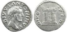 Ancient Coins - Roman Empire - Antoninus Pius AR denarius - DIVO PIO