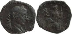 Ancient Coins - Trebonianus Gallus AE Sestertius - ROMAE AETERNAE