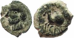 Ancient Coins - Celtic coin of Iberian Spain, Carisa AE14 Horse and Rider