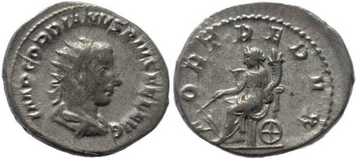 Ancient Coins - Gordian III 238-244AD silver antoninianus - FORT REDVX