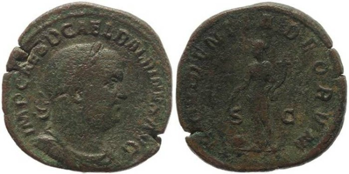 Ancient Coins - Balbinus Ae Sestertius - PROVIDENTIA DEORVM