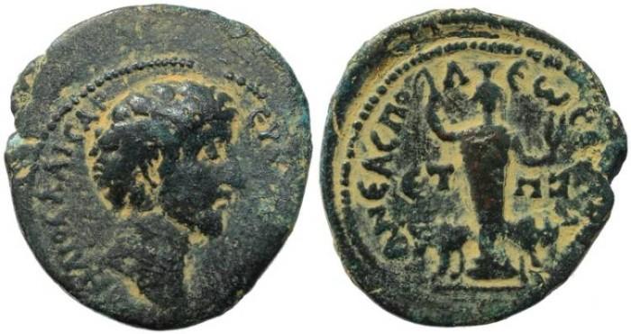 Ancient Coins - Marcus Aurelius - Judaea, Neapolis 159/160AD