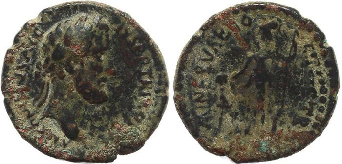 Ancient Coins - Roman Provincial coin of Antoninus Pius Ae25 - Lystra, Lycaonia