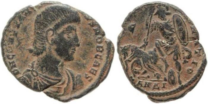 Ancient Coins - Constantius Gallus AE2 - FEL TEMP REPARATIO
