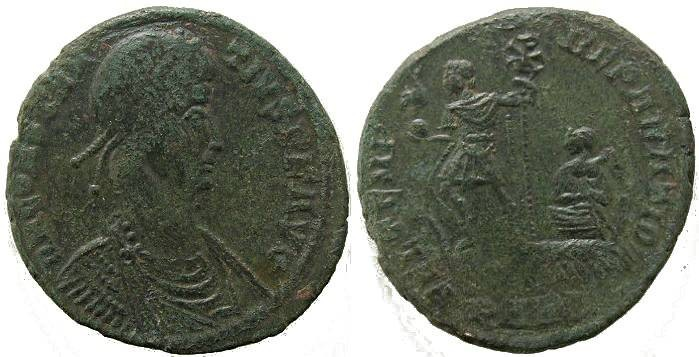 Ancient Coins - Constantius II Ae2 - FEL TEMP REPARATIO - Arelate Mint