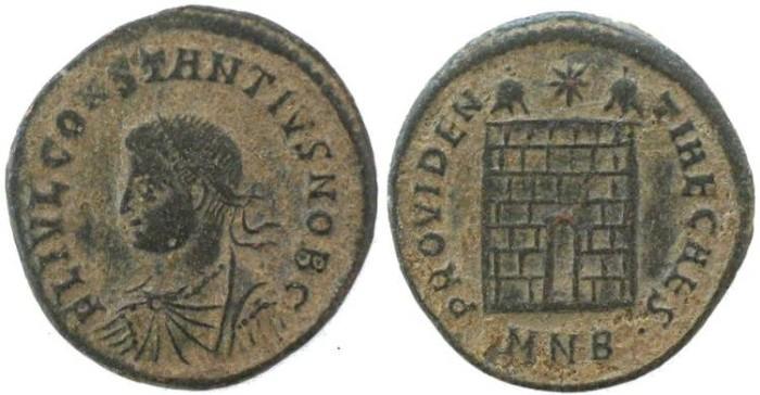 Ancient Coins - Constantius II as Caesar, Campgate - Nicomedia Mint 325-326AD