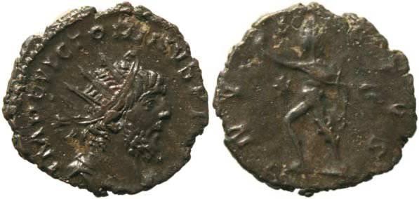 Ancient Coins - Victorinus 268-270AD Gallic Usurper -  INVICTVS