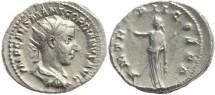 Ancient Coins - Gordian III AR silver antoninianus - PM TR P II COS PP