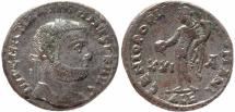 Ancient Coins - Roman coin of Maximian Ae large silvered follis - GENIO POPVLI ROMANI - Alexandria