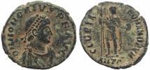 Ancient Coins - Roman coin of Honorius Ae2 - GLORIA ROMANORVM - Antioch