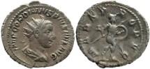 Ancient Coins - Gordian III AR silver antoninianus - MARS PROPVG