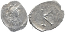 Ancient Coins - Anonymous Issue - Time of Justinian I - AR siliqua - nice example