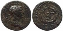Ancient Coins - Roman coin of Trajan AE Semis